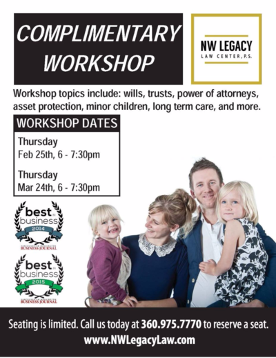 NW Legacy Law Workshop Flyer